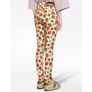 GUCCI Strawberry Print Skinny Trousers NWT
